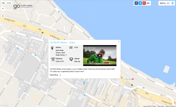 Video Map Go North Wales