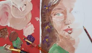 Portrait painting: Children's Art Workshop for 5-12 year olds