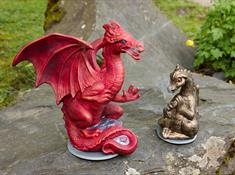 Smoking Dragons with their own names, in a range of colours and sizes are handmade at the Corris Craft Centre.