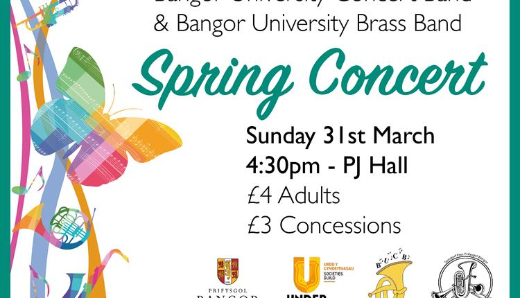 Bangor University Concert Band and Brass Band Spring Concert