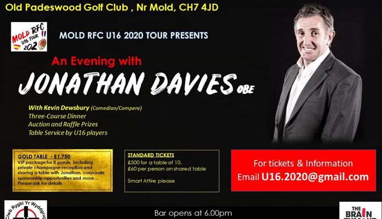 An evening with Jonathan Davies, OBE.